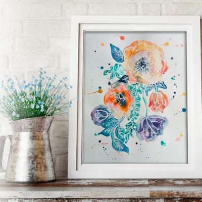 Akvarell festő workshop